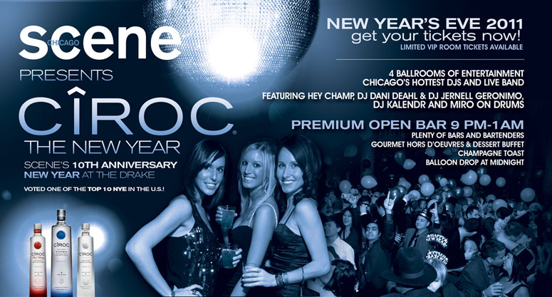 Join MDE at the Drake for the Chicago Scene NYE Party!