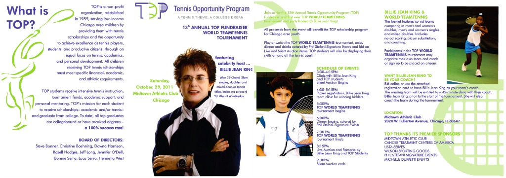 Join us in Supporting TOP – The Tennis Opportunity Program