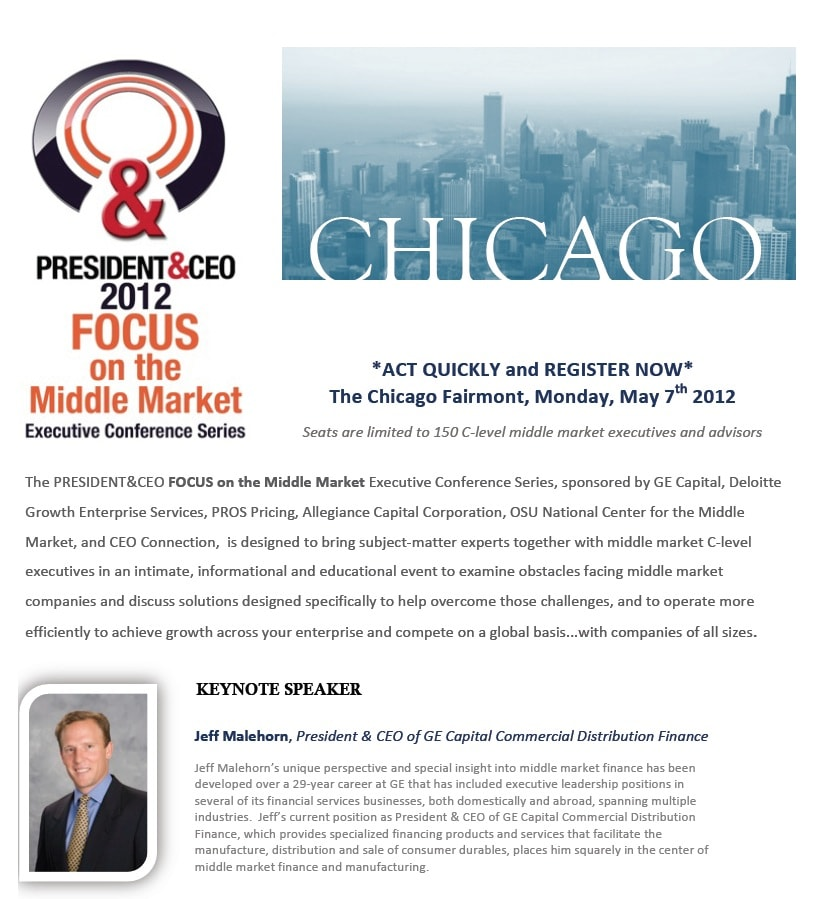 PRESIDENT&CEO Magazine: Executive Conference Series!