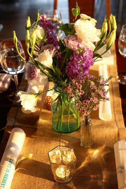 floral designs can be simple and lovely, like this one from Asrai garden, photo courtesy of Jeremy Lawson Photography