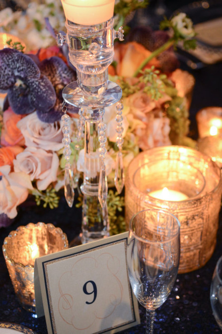 They can also be beautifully decadent, like this gorgeous table, by Designs by Sean. Photo courtesy of Domino Arts Photography