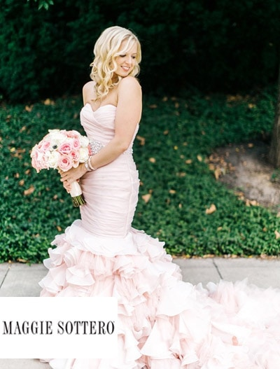 Maggie Sottero : Maggie Bride -  Laurie's Stunning Blush Wedding Dress