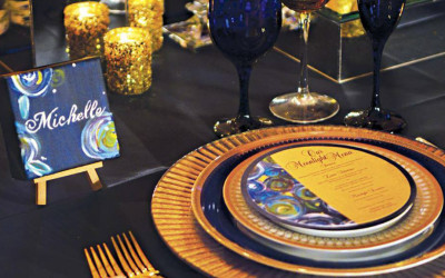 Flash Back Friday: Van Gogh Inspired Designer's Challenge for Chicago Style Weddings