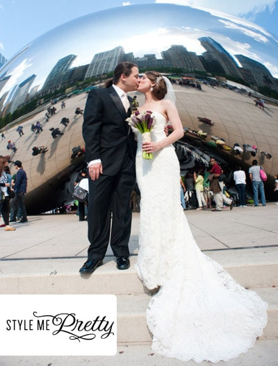 Style Me Pretty: Chicago Cultural Center Wedding