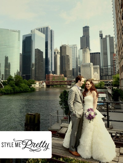 Style Me Pretty : Chicago Wedding at Salvage One from Jeremy Lawson Photography