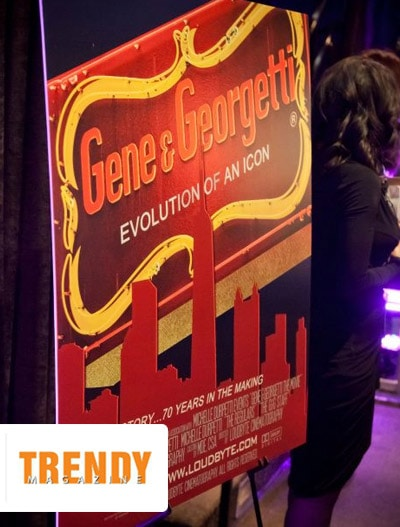 "Trendy Magazine: Gene & Georgetti's ""Evolution of An Icon"" Film"