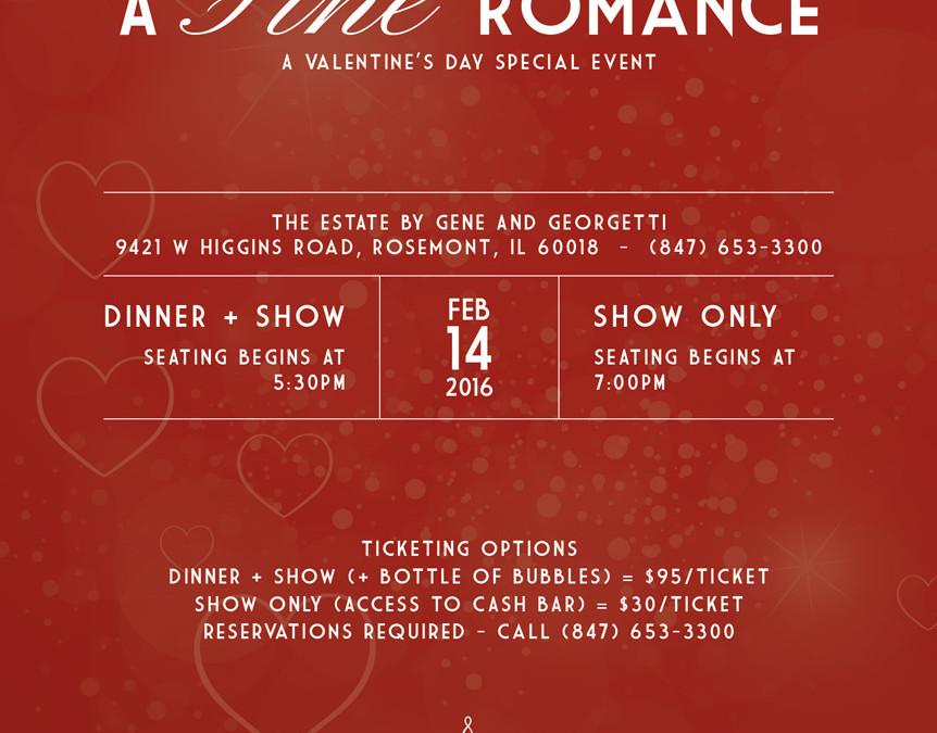 A Fine Romance, A Valentine's Day Special Event   Dinner + Cabaret Show