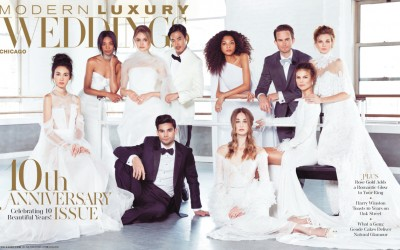 10th Anniversary Edition of Modern Luxury Weddings Chicago features MDE!