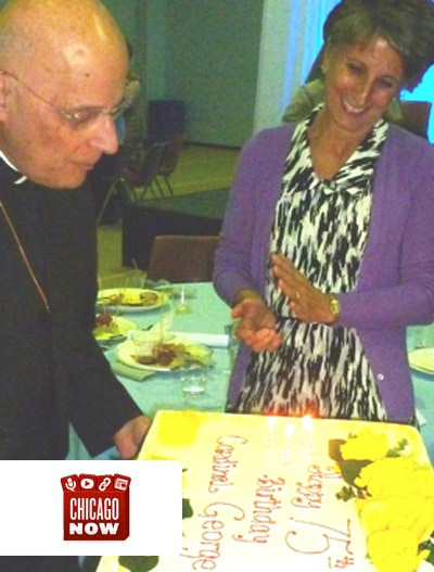 Chicago Now: Francis Cardinal George and Notre Dame High School for Girls Celebrate 75th Birthdays Together