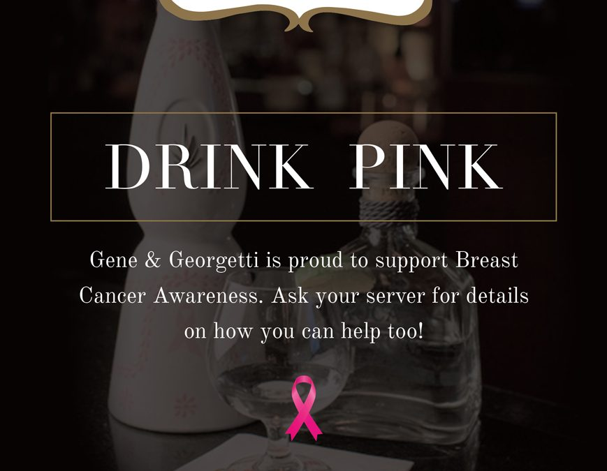 """""""Drink Pink"""" For Breast Cancer Awareness!"""