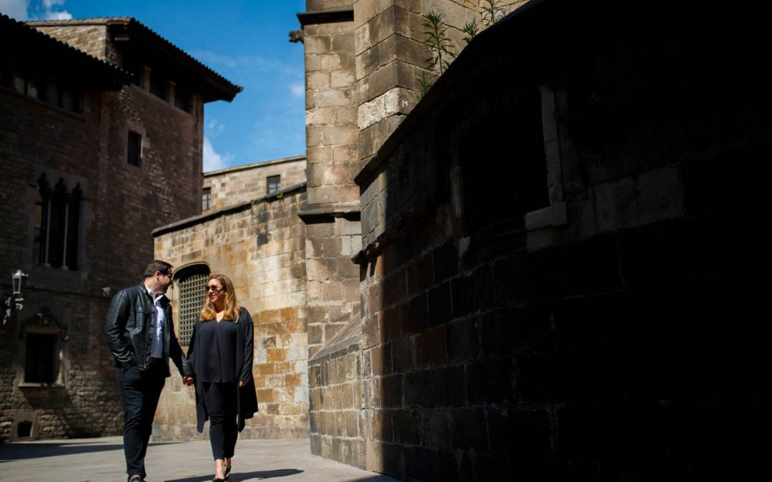 Engagement Session In Barcelona, Spain.  Michelle and Collin are featured!