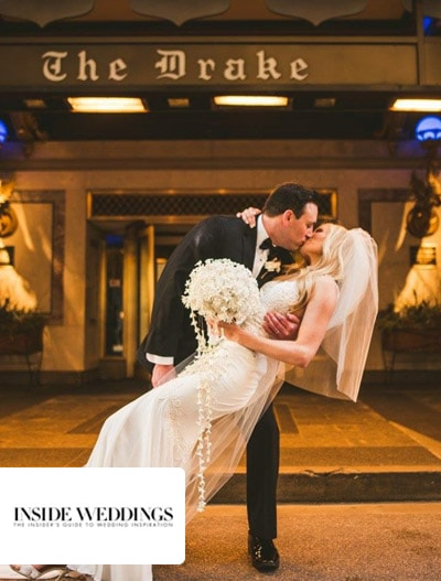 Inside Weddings: Spring Real Wedding with Ivory, Blush & Gold Details in Chicago