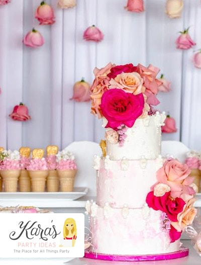 Kara's Party Ideas : Pretty In Pink Baby Shower