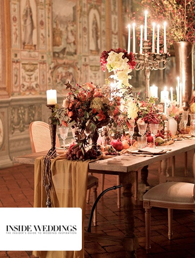 Inside Weddings : Anniversary Dinner in Florence Inspired by Still Life Paintings