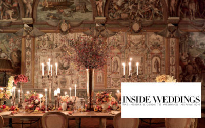 Inside Weddings Features Our Anniversary Dinner in Florence