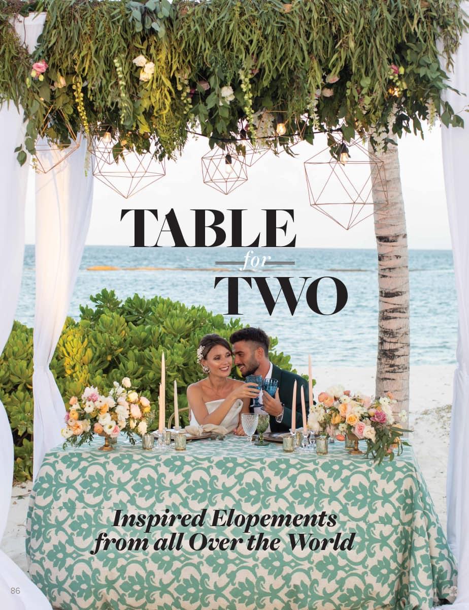 Destination I Do Spring 2020 Magazine - Table For Two