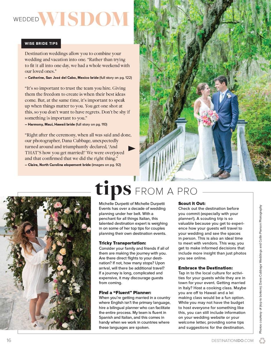 Destination I Do Spring 2020 Magazine - Tip by Pro MDE