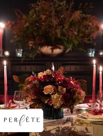 Perféte: Moody & Romantic Holiday Dinner Decor Inspiration