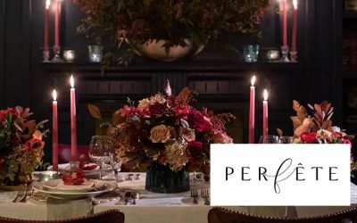 Holiday Dinner Decor Featured in Perféte