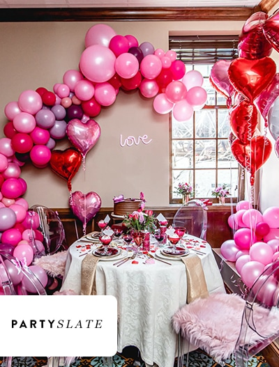 PartySlate: Glamorous Pink & Red Valentine's Day Party In Chicago, IL