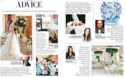 Inside Weddings includes Michelle in their roundup of Expert Advice